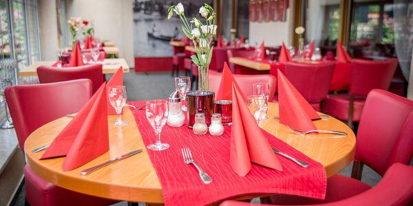 Innenansicht Restaurant vom Hotel Baggernpuhl in Nauen